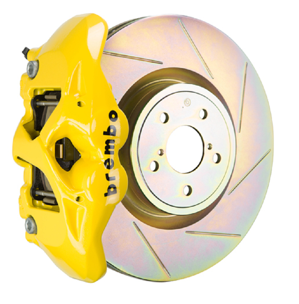 Brembo GT Systems Monobloc 4 Piston 326mm Slotted (Yellow) For 2002-2014 WRX/STI