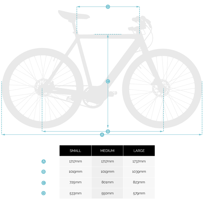 Miller Electric Bicycle - Sizing Chart