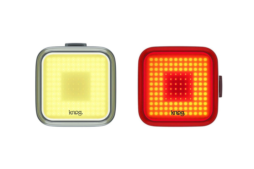 Knog Blinder Square Twinpack | Front + Rear Bike Lights