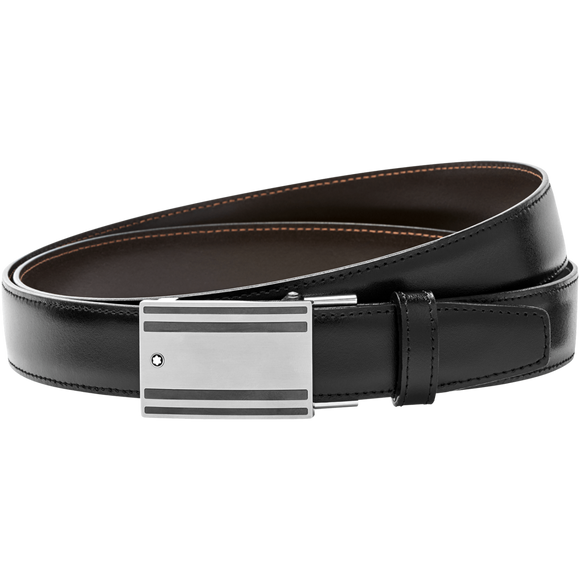 MONTBLANC Black/brown reversible cut-to-size business belt