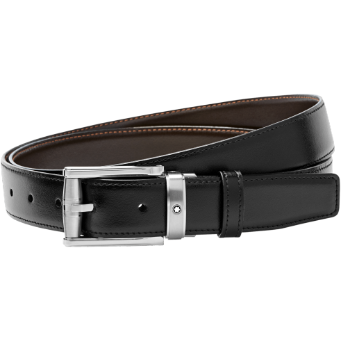 Black/brown reversible cut-to-size business belt 114427
