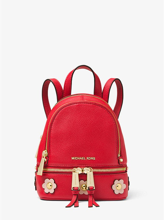 Michael Kors Rhea Mini Floral Appliqué Leather Backpack