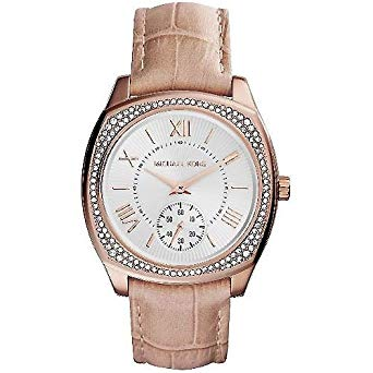 Michael Kors Women's Bryn MK2388 Rose-Gold Leathe