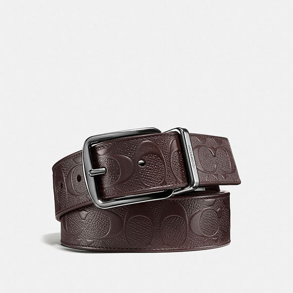 Coach Wide Signature Leather Reversible Belt