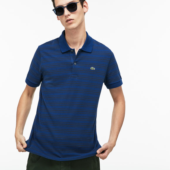 Lacoste Men's Regular Fit Striped Cotton Petit Piqué Polo
