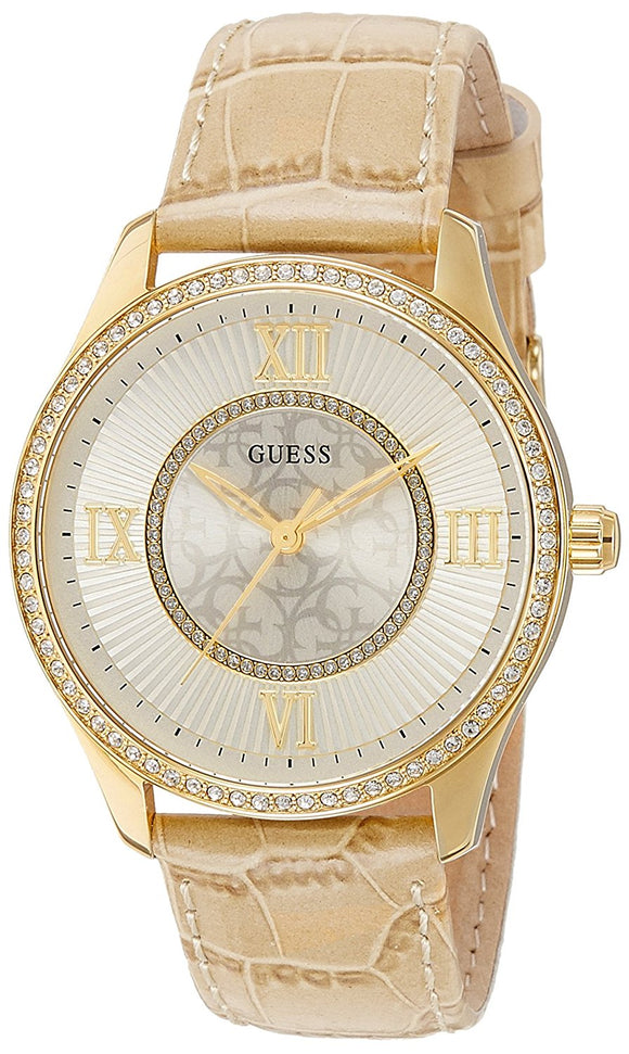 GUESS Women's Tan Leather Strap Watch 39mm U0768L2 & Reviews - Watches -