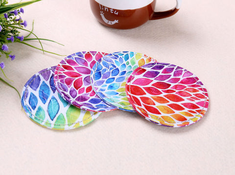 Watercolor Leaf Coaster