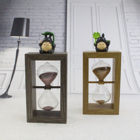Wood Framed Hourglass