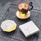 Gold Accent Marble Coaster