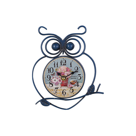 Iron Owl Clock