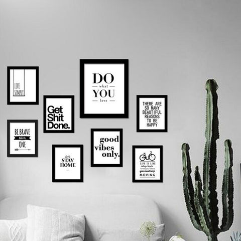 Wall Art Canvas Home Decoration – Uplifting Motivations