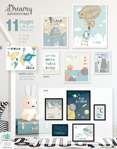 Dreamy Adventures - 5pc Double-Sided Art Print Set