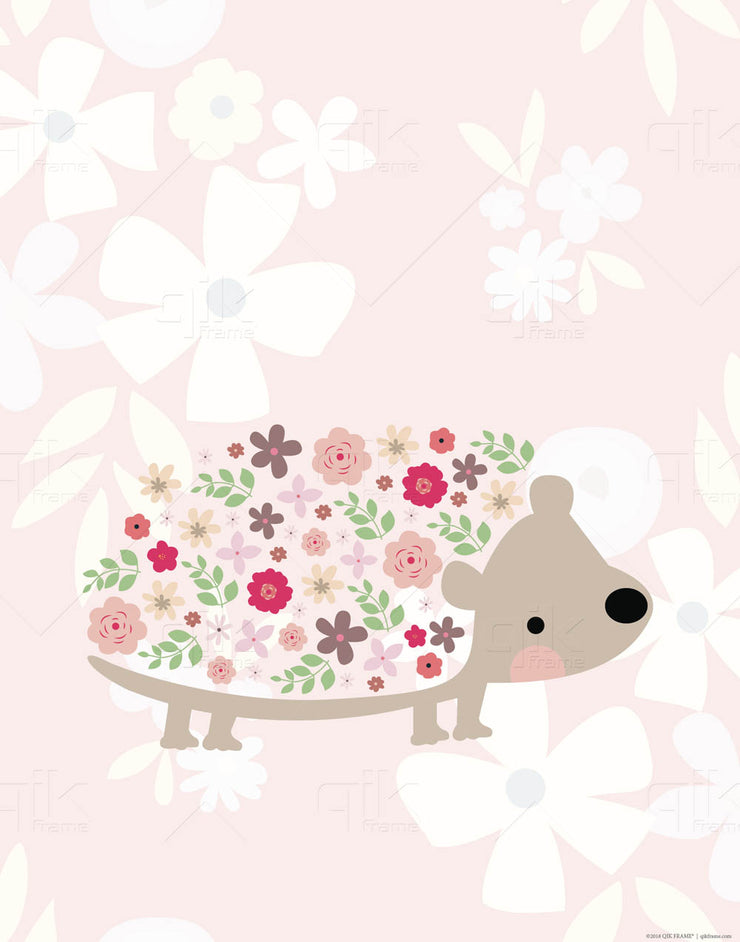Floral Woodland Creatures - 3pc Double-Sided Art Print Set