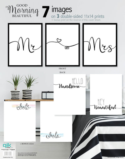 Good Morning Beautiful - 3pc Double-Sided Art Print Set