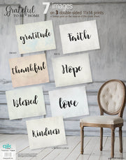 Grateful to Be Home - 3pc Double-Sided Art Print Set