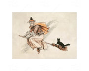 Halloween Vintage Style - 5pc Double-Sided Art Print Set