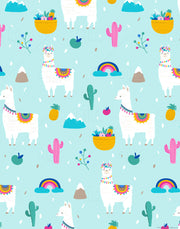 Hola Llama - 5pc Double-Sided Art Print Set