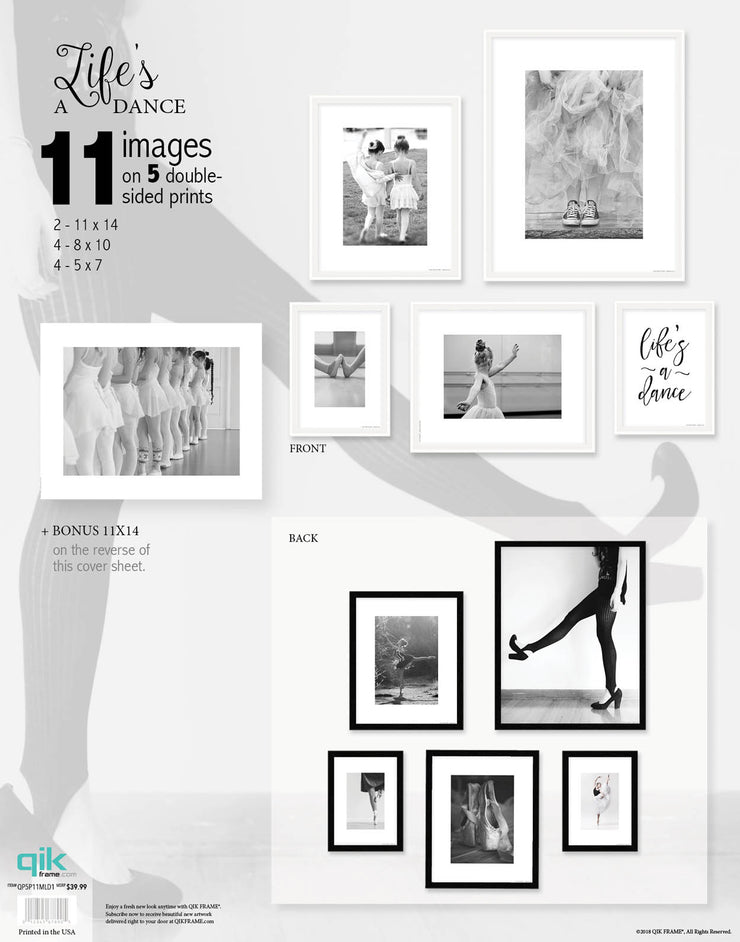 Life's a Dance - 5pc Double-Sided Art Print Set