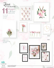 Love In Bloom - 5pc Double-Sided Art Print Set