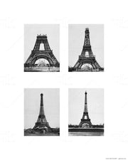 Paris Love Story - 5pc Double-Sided Art Print Set