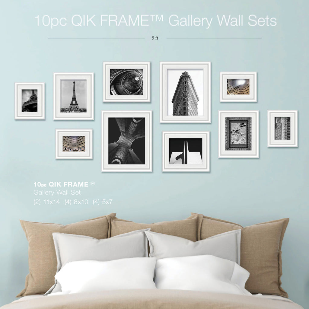 Qik frame the quick change picture frame 10pc gallery wall set q53 century white jeuxipadfo Gallery