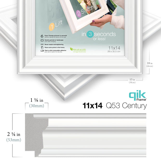 6pc Gallery Wall Set - Q53 Century - White