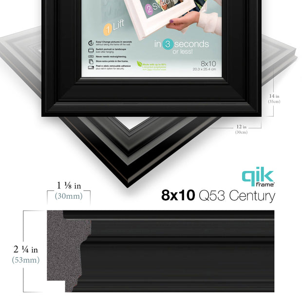 6pc Gallery Wall Set - Q53 Century - Black