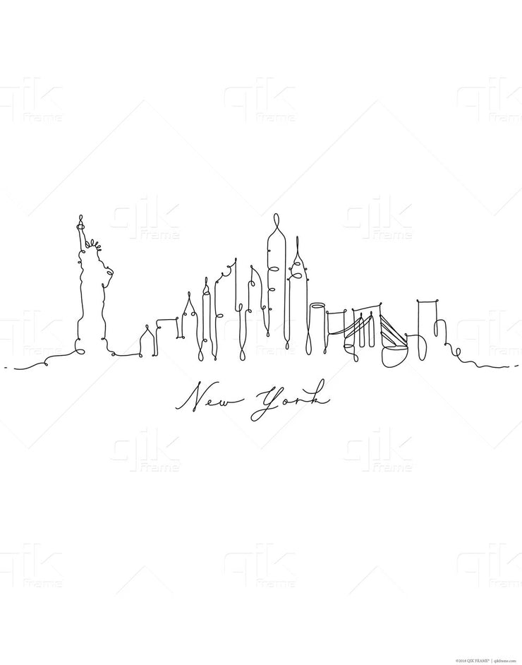 Skylines Famous Places - 3pc Double-Sided Art Print Set
