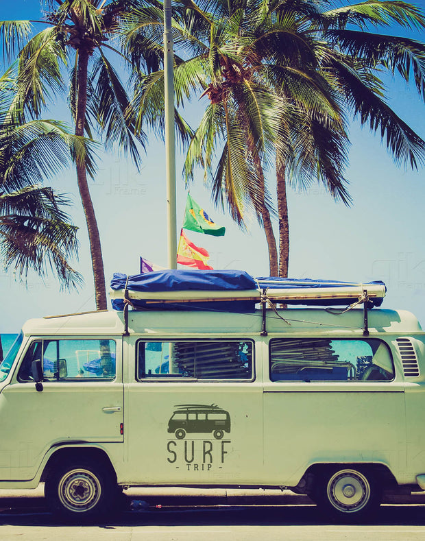 Surf Vaca - 5pc Double-Sided Art Print Set