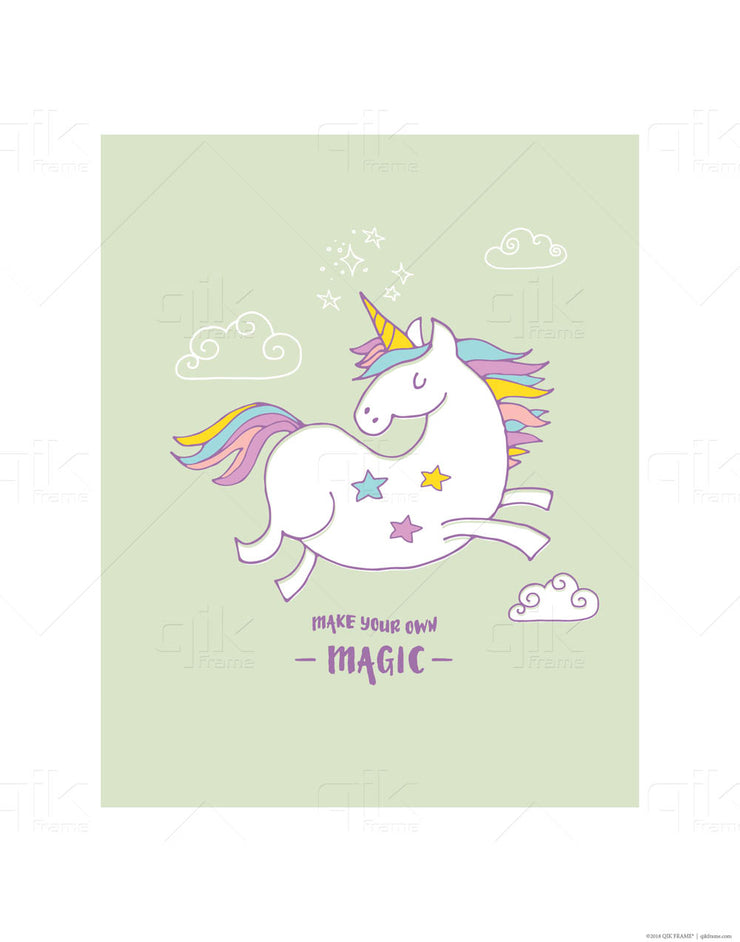 Unicorn Dreams - 3pc Double-Sided Art Print Set