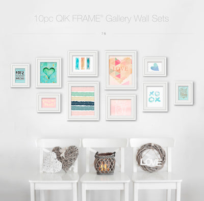 10pc Gallery Wall Set - Q53 Century - White