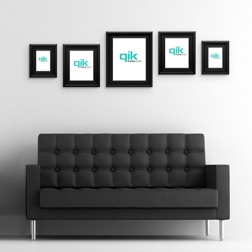 Qik frame the quick change picture frame 5pc gallery wall set q53 century black jeuxipadfo Gallery
