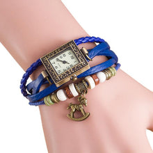Square Lady's Leather Trojans Bracelet