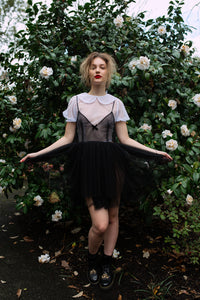 I found Lucy. sheer ballet tululah dress black image