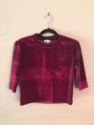 Ruby Hugs Velvet crop