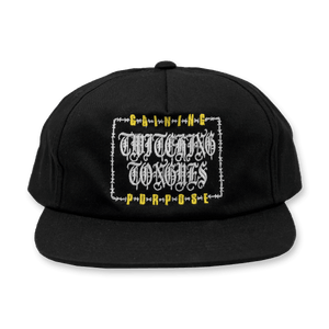 "Twitching Tongues ""Barbed Wire"" Black Snapback"