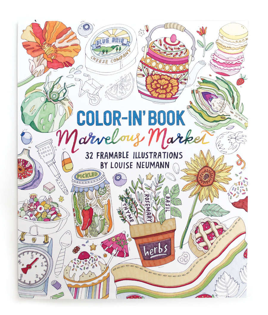 MARVELOUS MARKET COLOR-IN BOOK