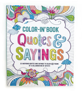 QUOTES AND SAYINGS COLOR-IN BOOK