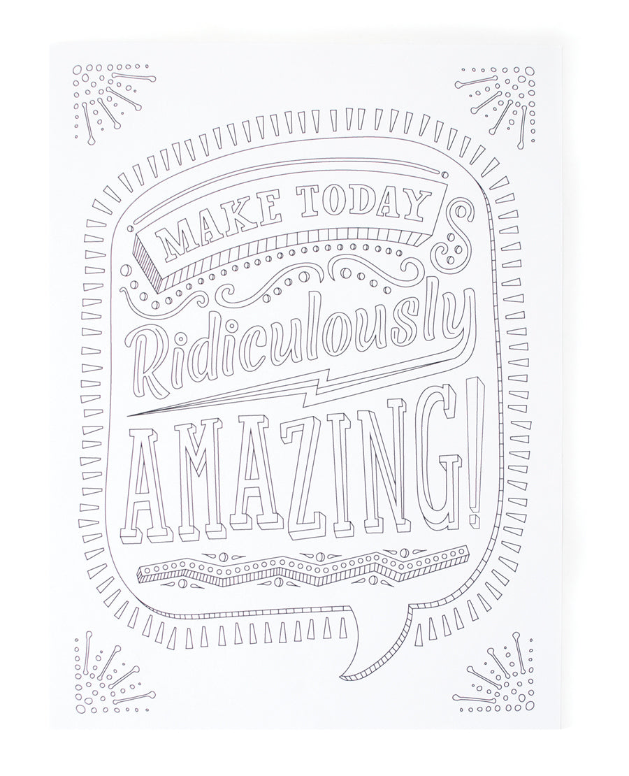 Ooly Coloring Book Quotes /& Sayings Color-In/' Book