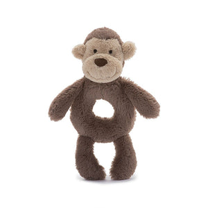 BASHFUL MONKEY GRABBER RING RATTLE