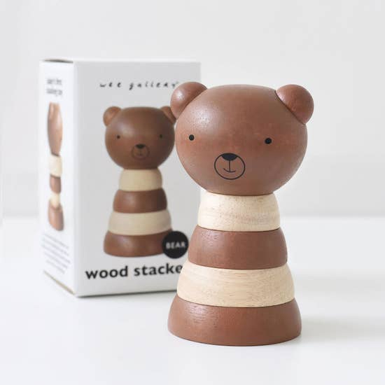 WOODEN BEAR STACKER