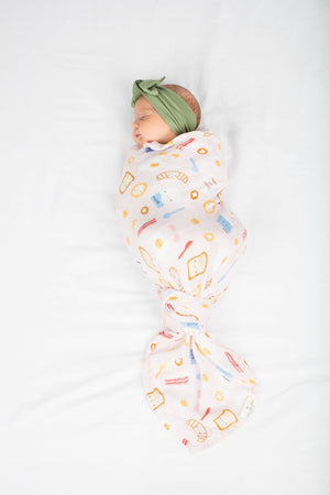 BREAKFAST PINK MUSLIN SWADDLE