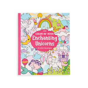 ENCHANTING UNICORNS COLOR-IN BOOK