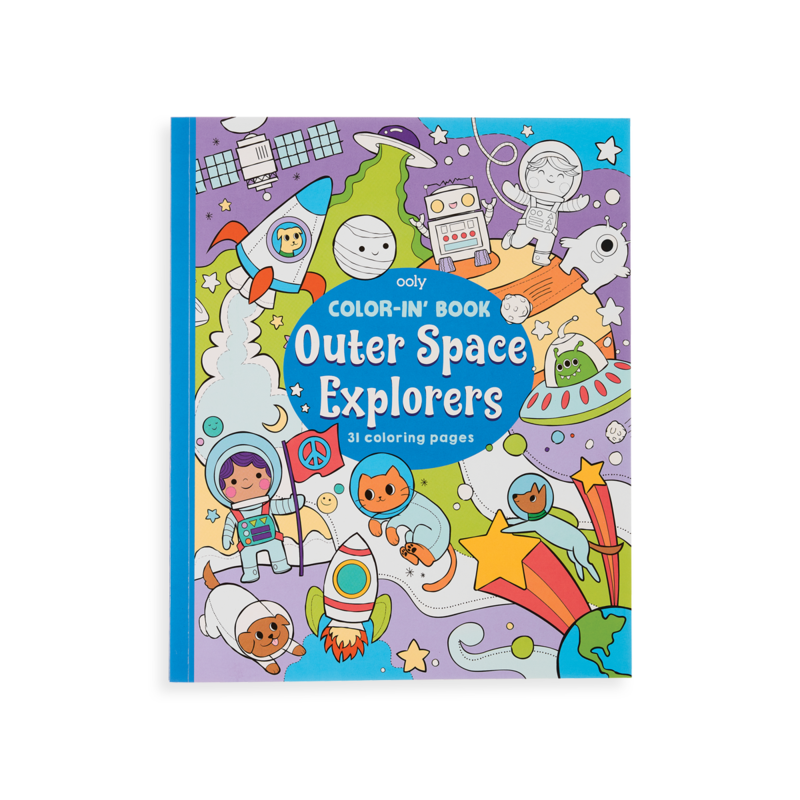 OUTER SPACE EXPLORERS COLOR-IN BOOK