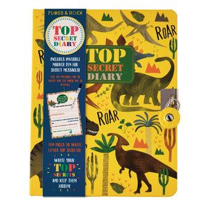 DINOSAUR TOP SECRET LOCKABLE DIARY