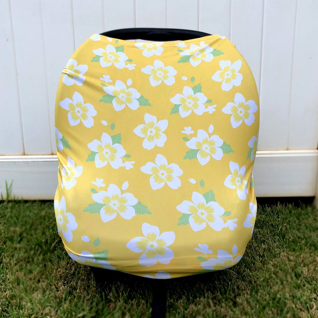 GOLDEN PLUMERIA MULTI-USE COVER