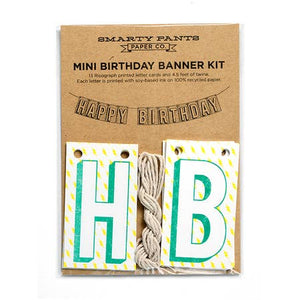 MINI BANNER KIT, HAPPY BIRTHDAY WITH LIGHTNING BOLTS
