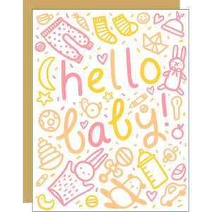HELLO BABY, WELCOME BABY CARD