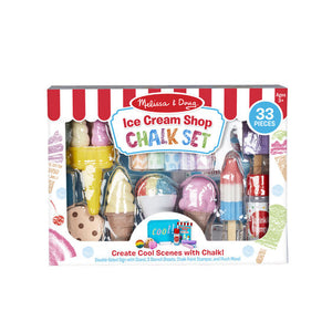 ICE CREAM SHOP CHALK PLAY SET