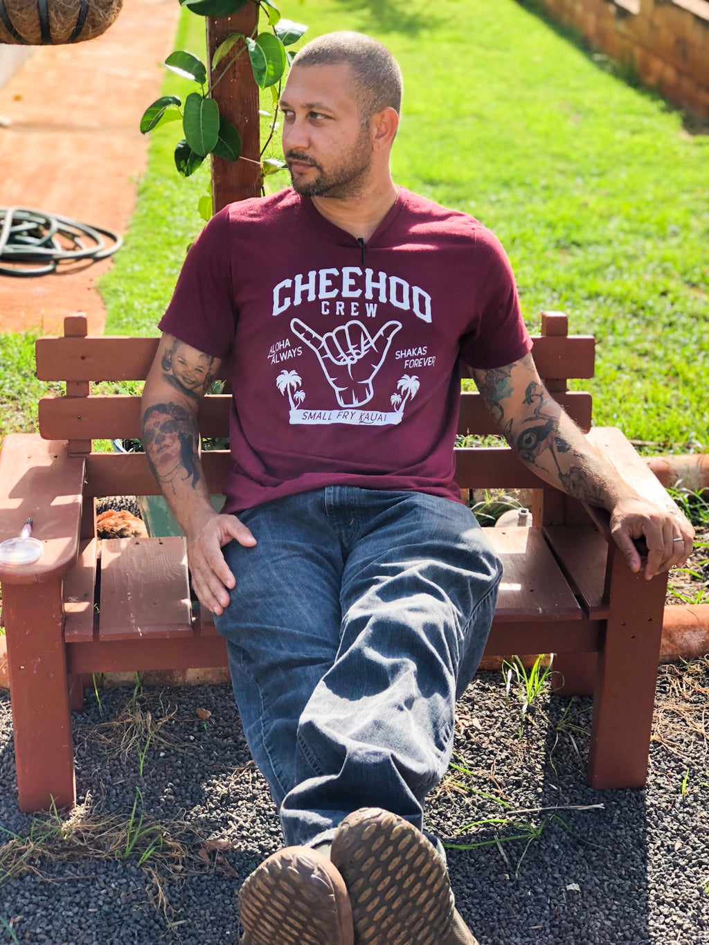 CHEEHOO CREW, Heather Cardinal, ADULT UNISEX